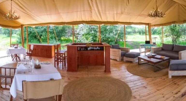 Asanja Grumeti Camp Dining