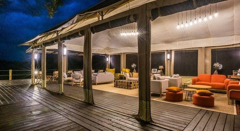 Entim Private Camp Lounge Area
