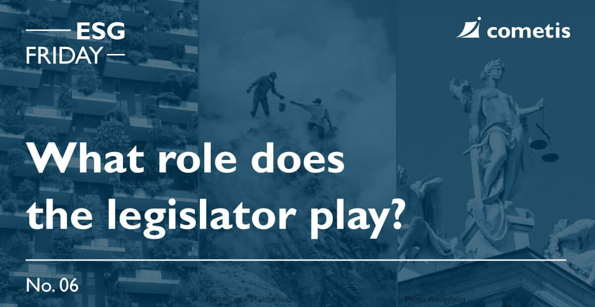 ESG: What role does the legislator play?