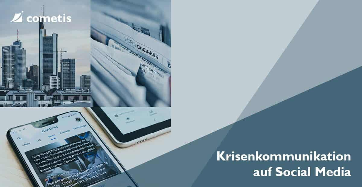 Banner Socal Media für Krisenkommunication