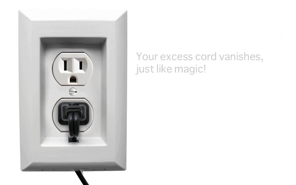 Install Cover Plate Step Infographic Cord Organizer