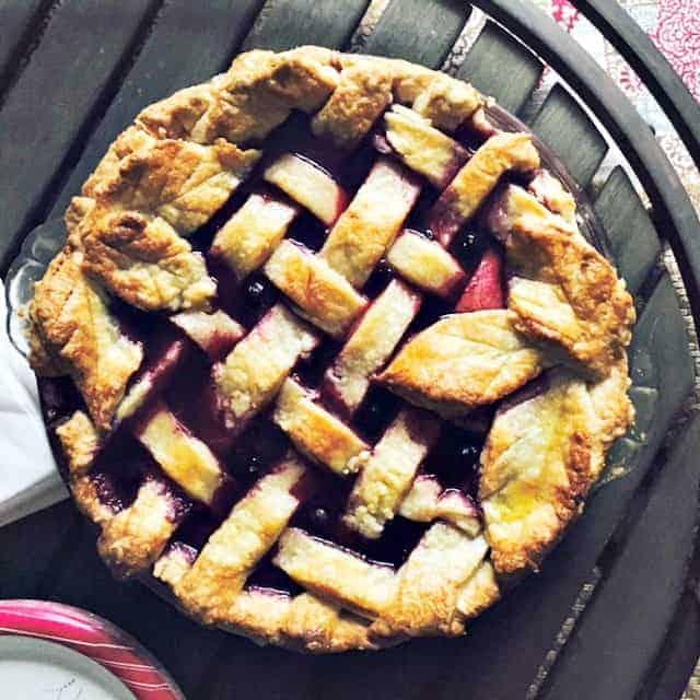 close up of homemade pie