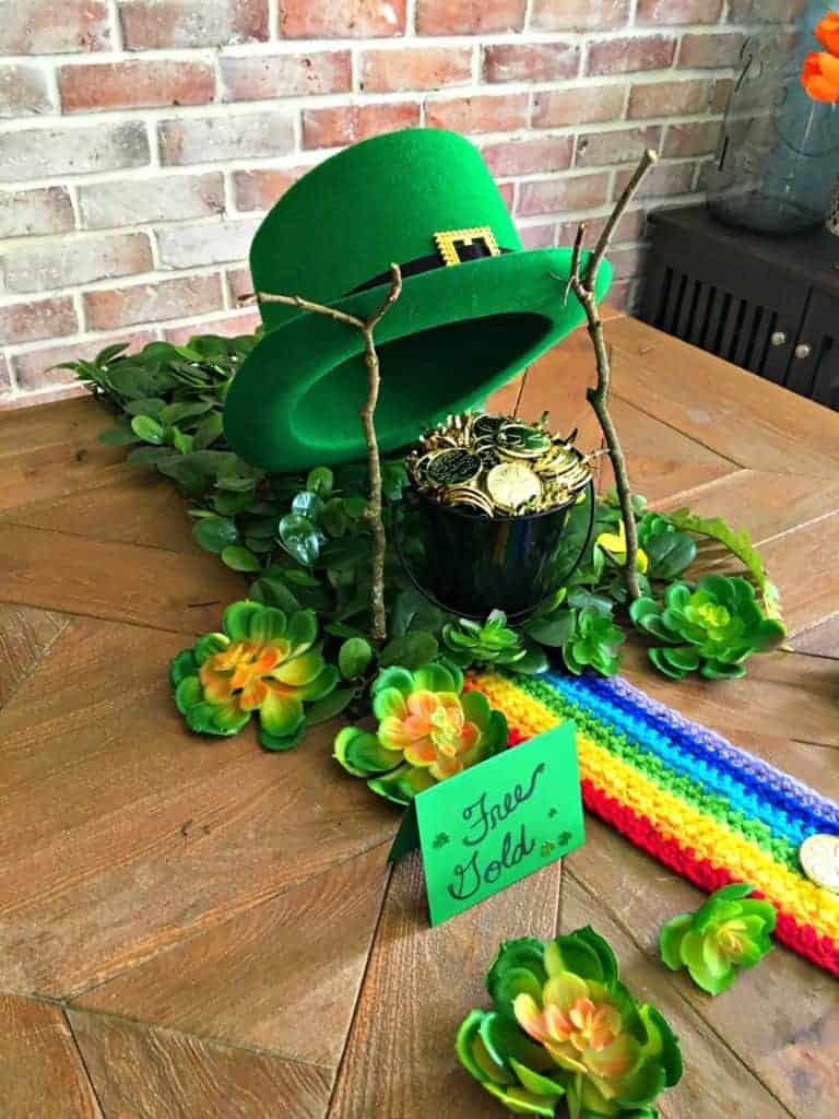leprechaun trap with sign reading free gold