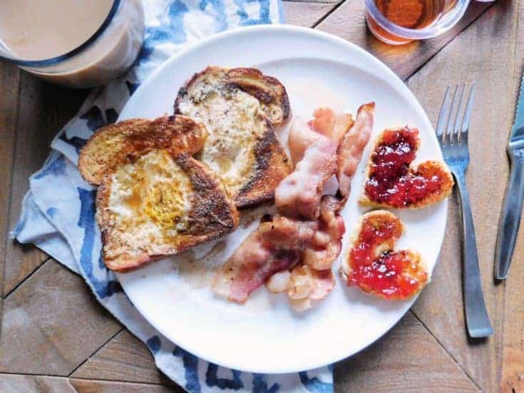 heart attack on a plate with bacon