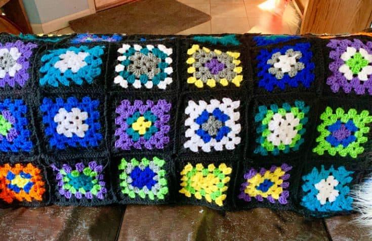 Roseanne Afghan Granny Square Blanket