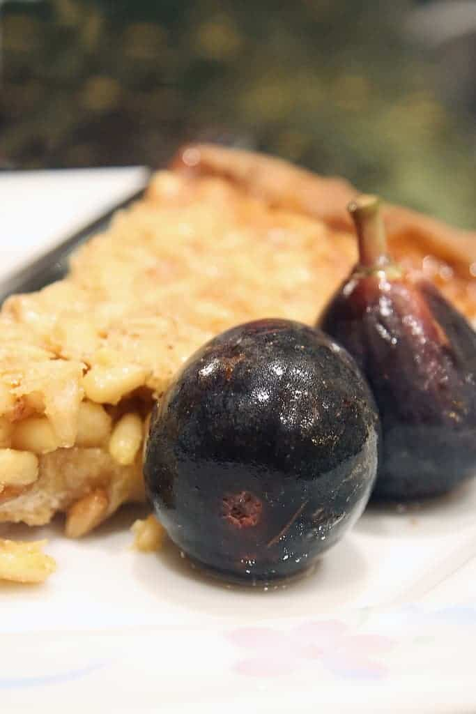 In the Land of Figs and Honey – Honey and Pine Nut Tart w/ Poached Figs