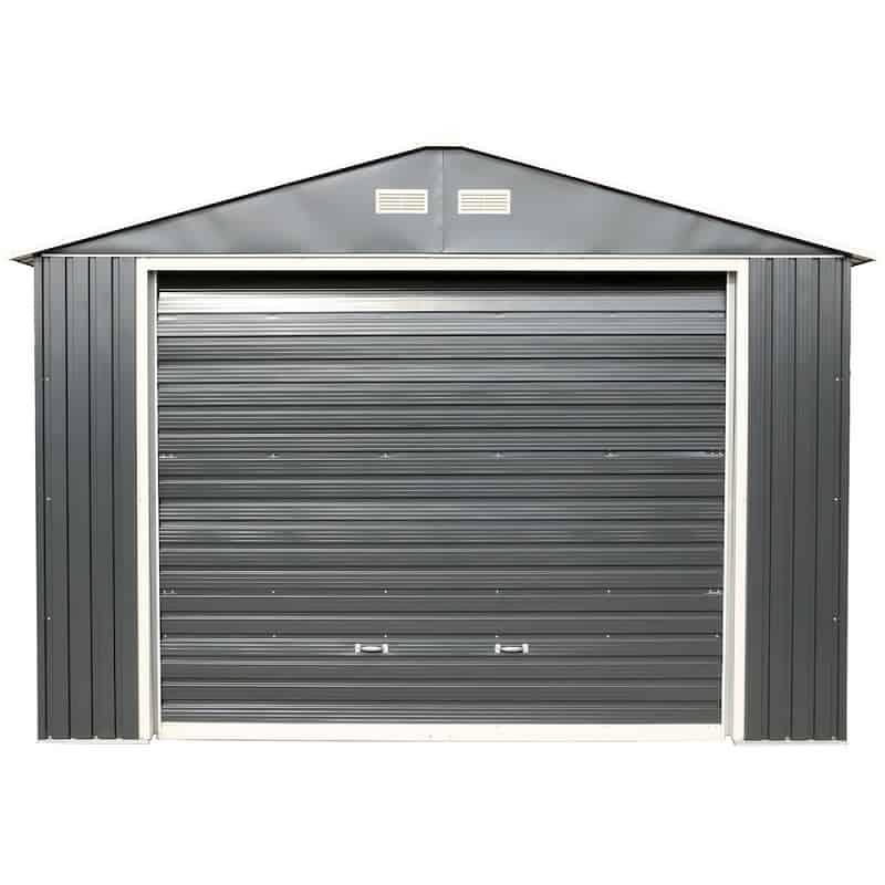 Imperial Metal Garage Dark Gray w/White 12x32