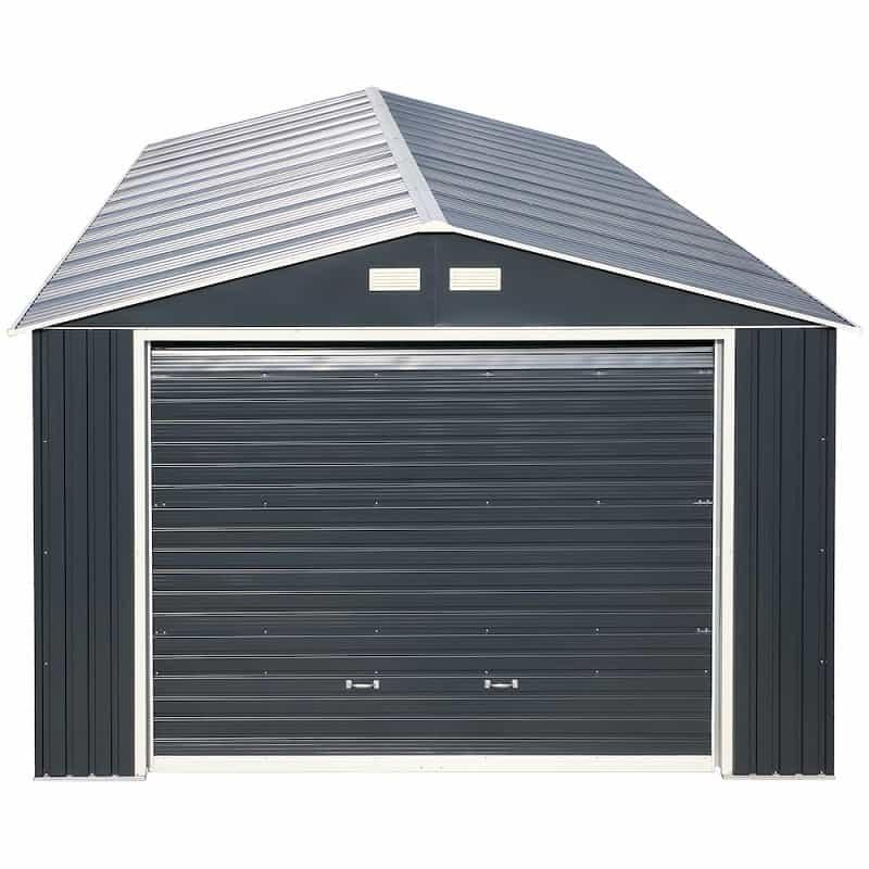 Imperial Metal Garage Dark Gray w/White 12x26