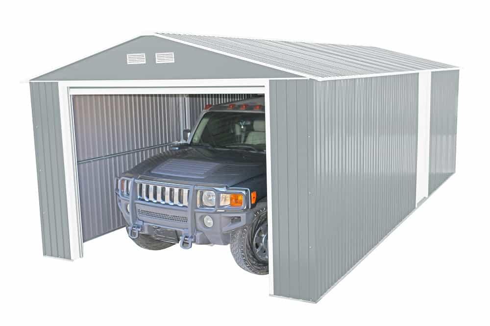 Imperial Metal Garage Light Gray 12x20