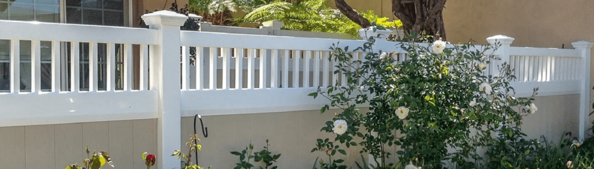 Louis and Linda installed a Duramax white color vinyl fence around their garden area