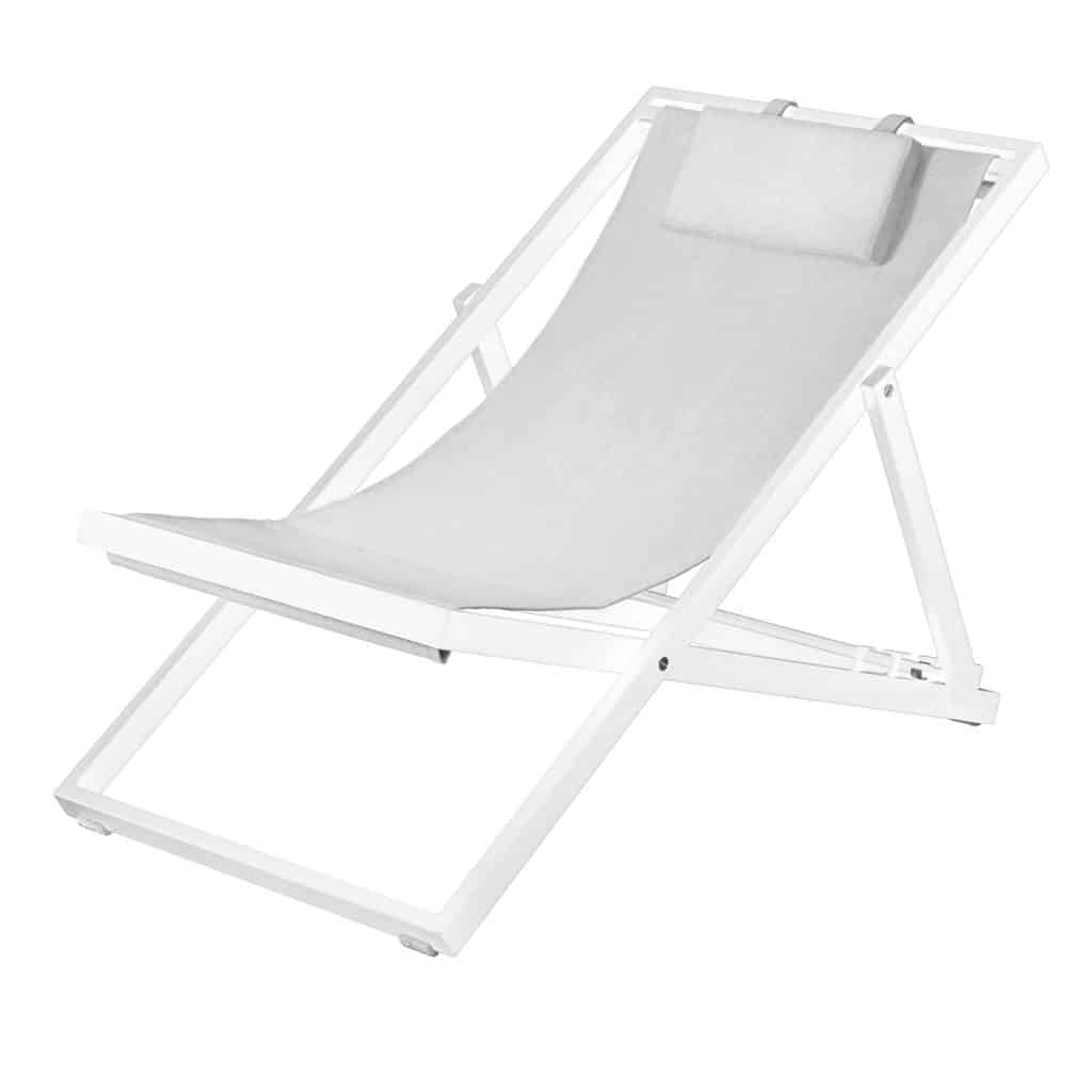 Newport Lounger White
