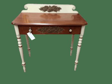 Hitchcock Vintage Solid Cherry Stenciled Desk