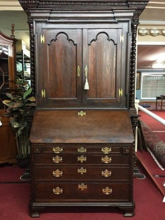 antique oak secretary desk