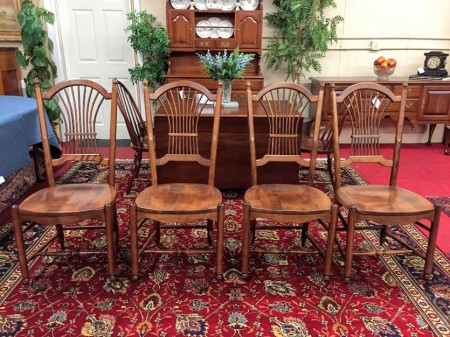 nichols and stone wheat back dining chairs