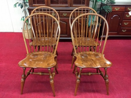 E.R. Buck Maple Windsor Dining Chairs
