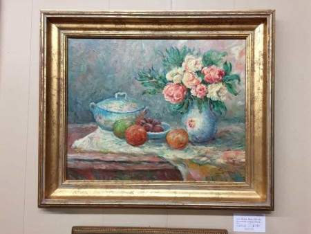 Oil on Canvas of Fruit and Flower Still Life