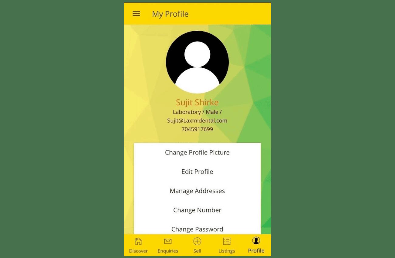 Dentgle Mobile App profile