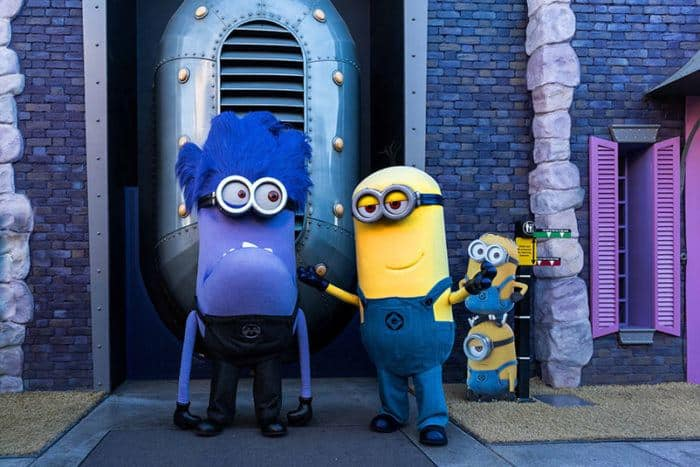 Minions causing trouble at universal studios