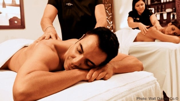 A massage is a great start to a disney world date night