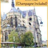 Reims, france is famous for champagne and its cathedral with marc chagall windows. Is it worth a visit with kids? Absolutely. Here is an itinerary that makes the most of a day trip to this historical city. #reims #kids #daytrip