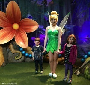 Meeting tinkerbell at disney world