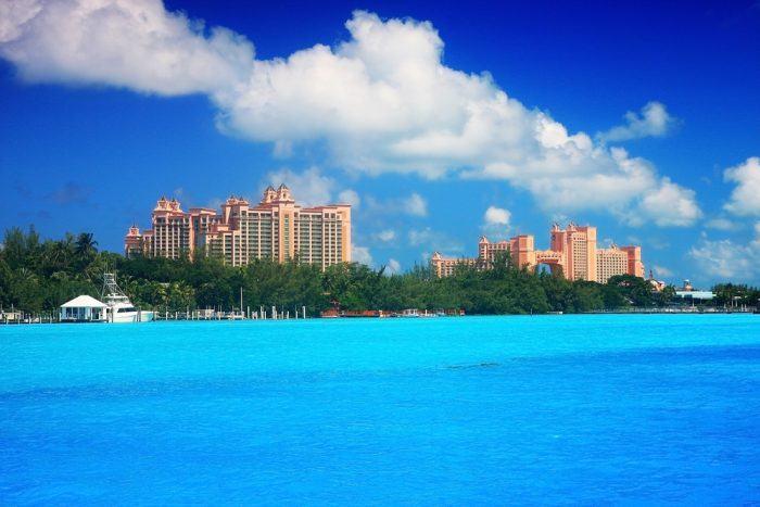 Atlantic paradise cove in the caribbean