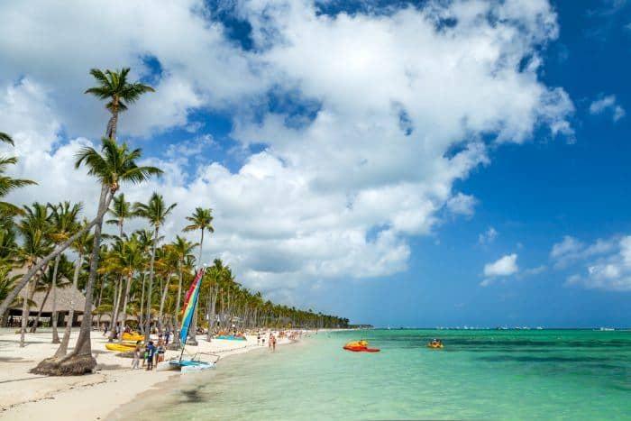 The hard rock hotel punta cana in the caribbean