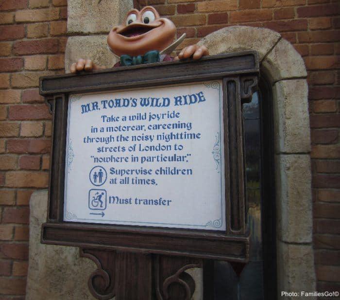 Mr toad's wild ride in anaheim