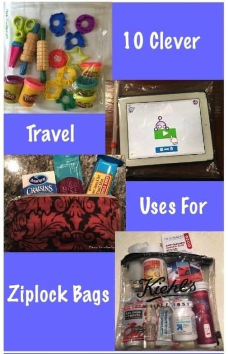 Ziplock bags are one of my favorite travel hacks for family vacations. We use big one and small ones two keep organized, contain spills and stash wet clothes. Here are our best uses for resealable zip bags
