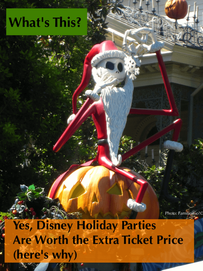 Here's why mickey's halloween party and mickey's christmas party at the disney parks are worth the extra ticket price. #disneyland #disneyworld #halloween #party #decorations #mickeyshalloweenparty #christmas #mickeyschristmasparty