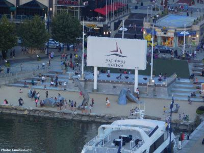 An bird's eye view of national harbor