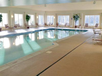 The indoor pool at the berskshire mountain lodge