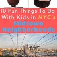 Midtown manhattan is the ideal base for seeing some on nyc's bucket list attractions and its hidden gems with kids. #nyc #midtown #sightseeing #ideas #kids #teens #thingstodo #vacation