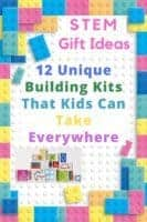 For your stem-loving kid, here are 12 creative and unique building sets they can use anywhere and everywhere. #stem #gifts #inspiration #blocks #tiles #cubes #magnetic #building #kids