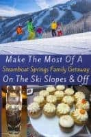 Steamboat springs is a winter playground for families with a great ski school, quality skiing, plus hiking, hot springs, great food and more for family members who don't ski. #steamboat #steamboatsprings #colorado #winter #skiing #restaurants #hotels #thingstodo #kids #vacation #ideas