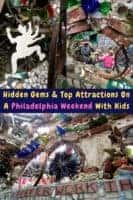 The magic garden is a hidden south street gem in philadelphia. Read the details and discover 6 more things to do on a weekend getaway to philly with kids. #philadelphia #philly #pennsylvania #magicgarden #thingstodo #weekend #getaway #ideas