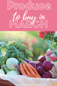 Produce to Buy in March