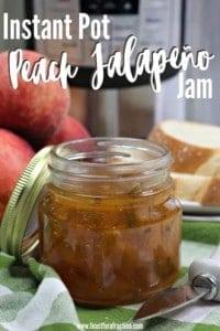 Instant Pot Peach Jalapeño Jam