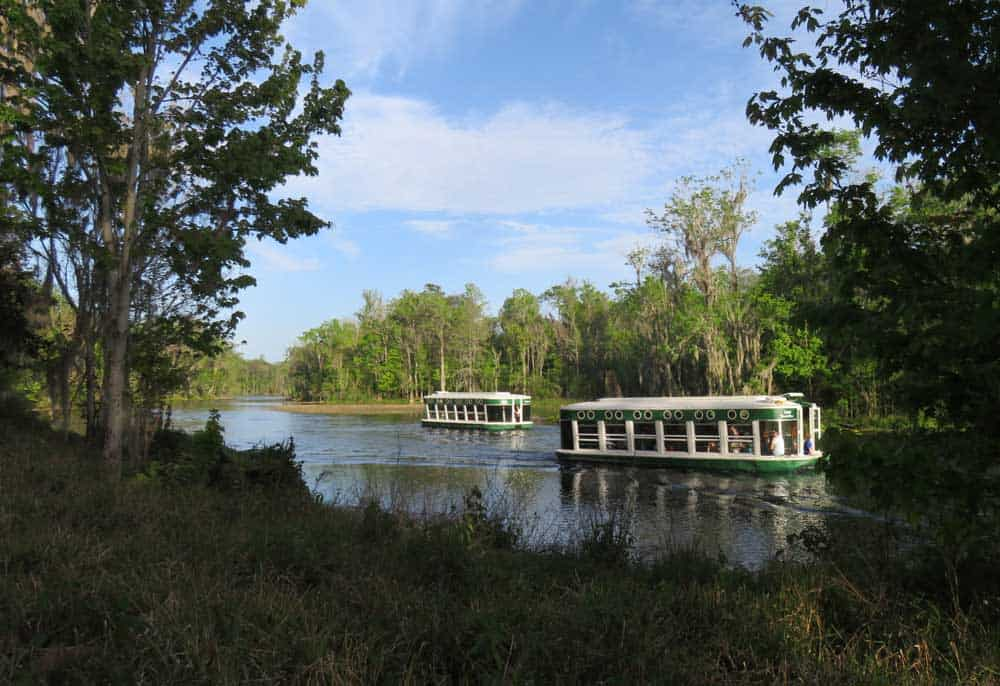 Glass bottom boats at Silver Springs State Park are identical to the originals (Photo: Bonnie Gross)
