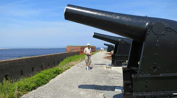 fort clinch cannons 10 state park campgrounds near I-95 and I-75 in North Florida