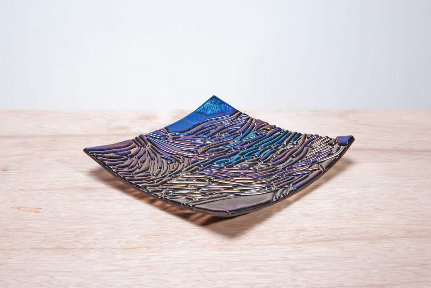 Dichroic glass art product photography