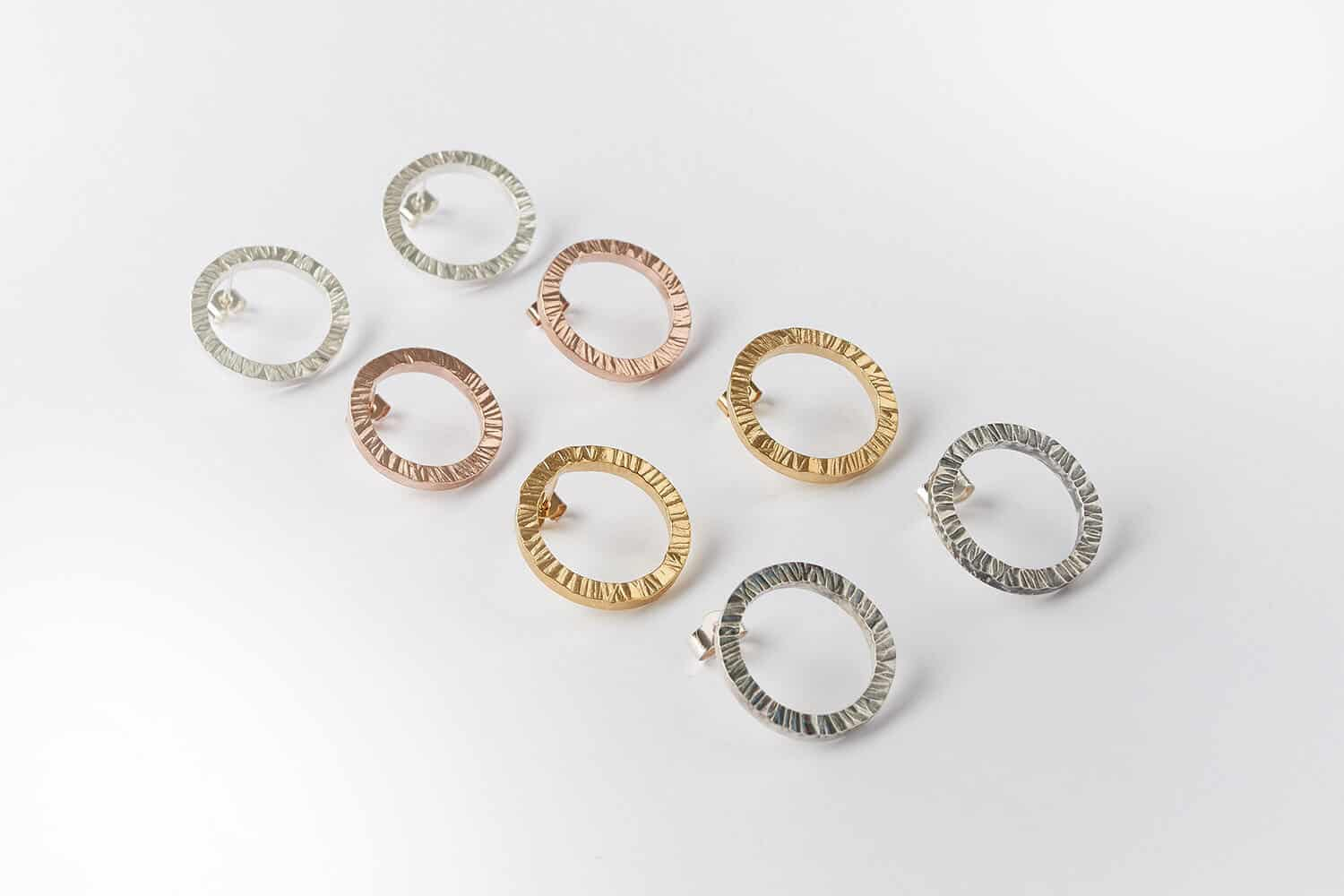 Jewellery product photography for jewellery maker Janet Leitch