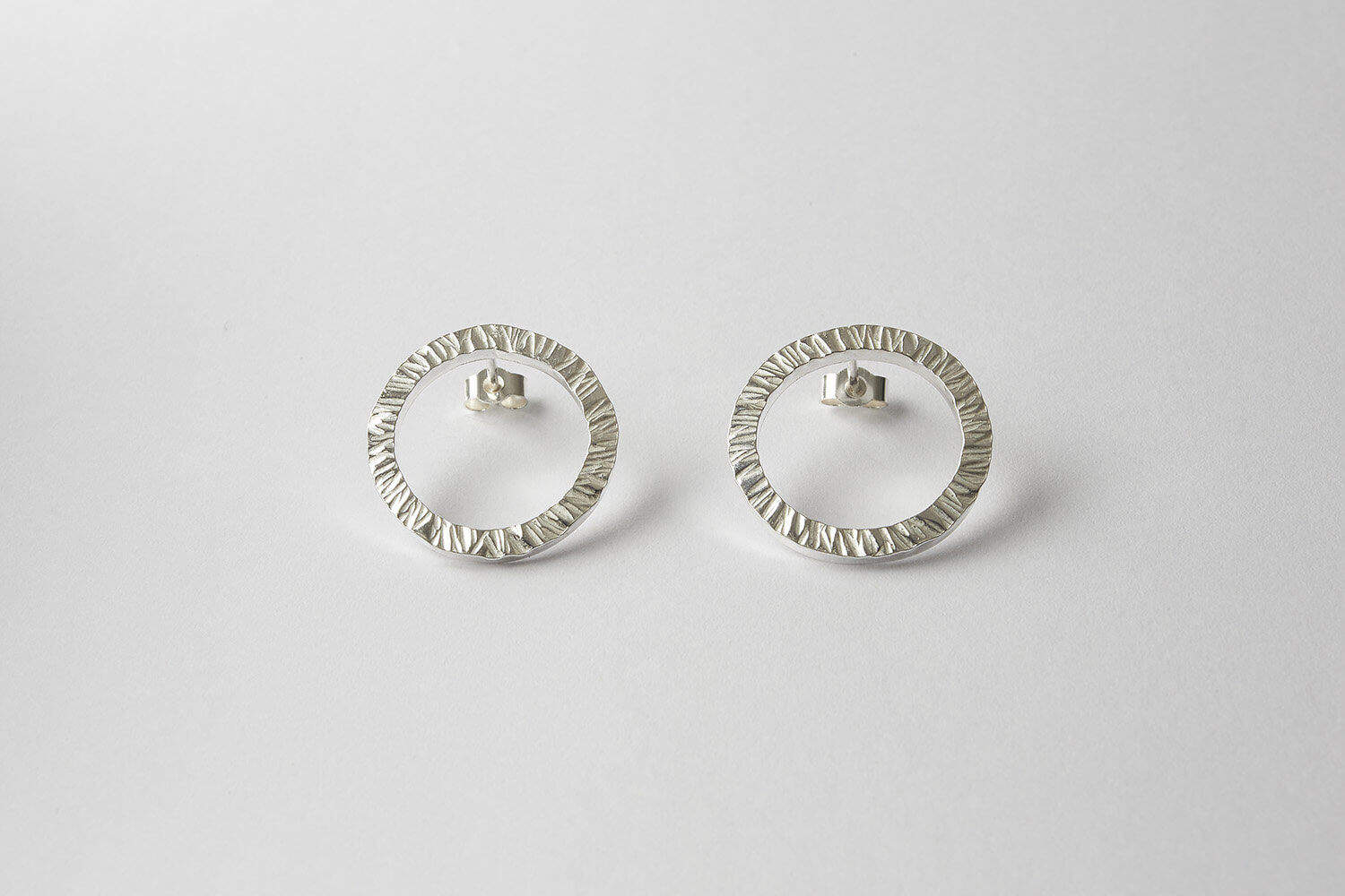 Silver drop earrings jewellery product photography for Janet Leitch jewellery