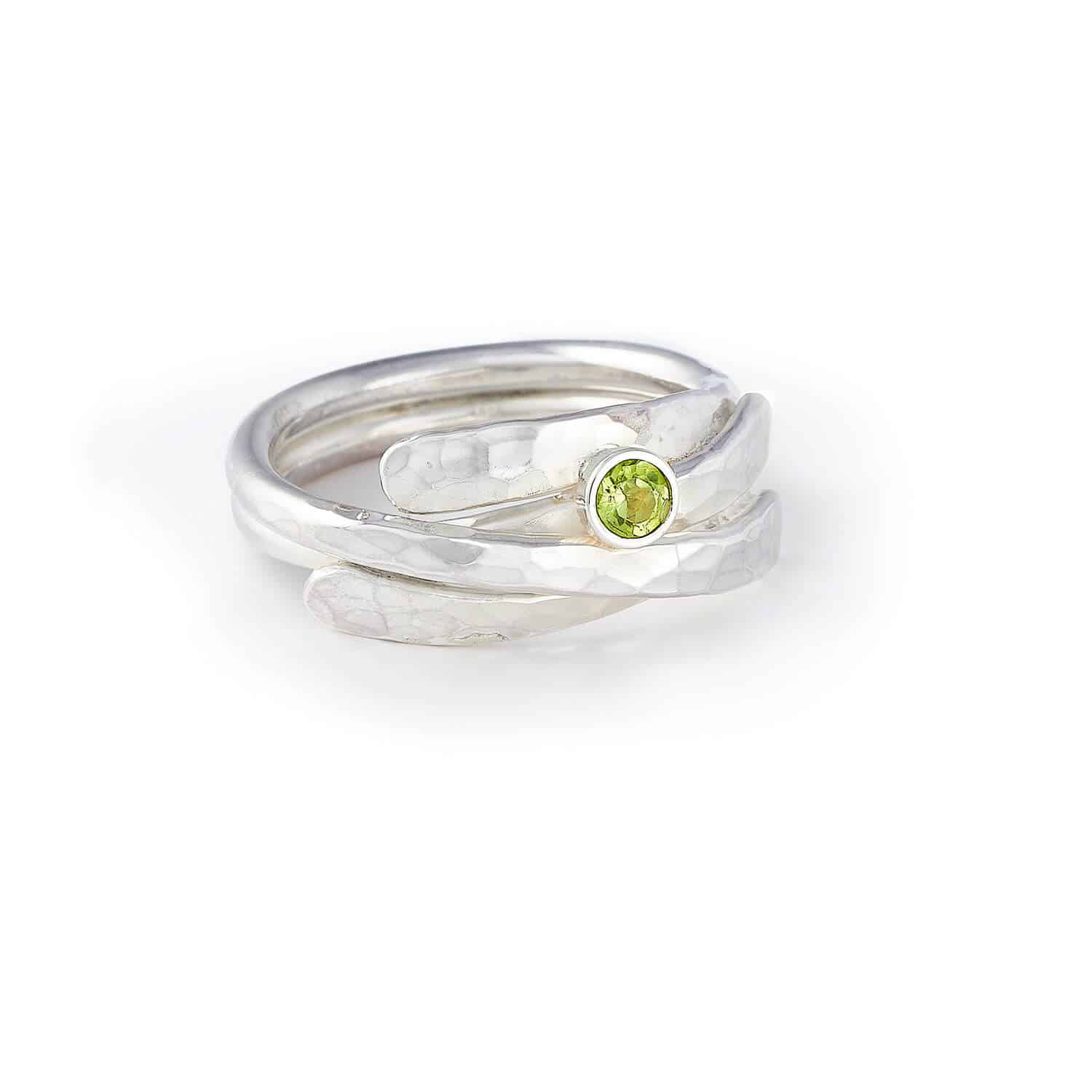 Jewellery product photography of a silver ring for Mackay and Pearson