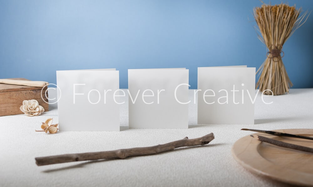 Stock photography of blank greetings cards ready for artists to superimpose their work
