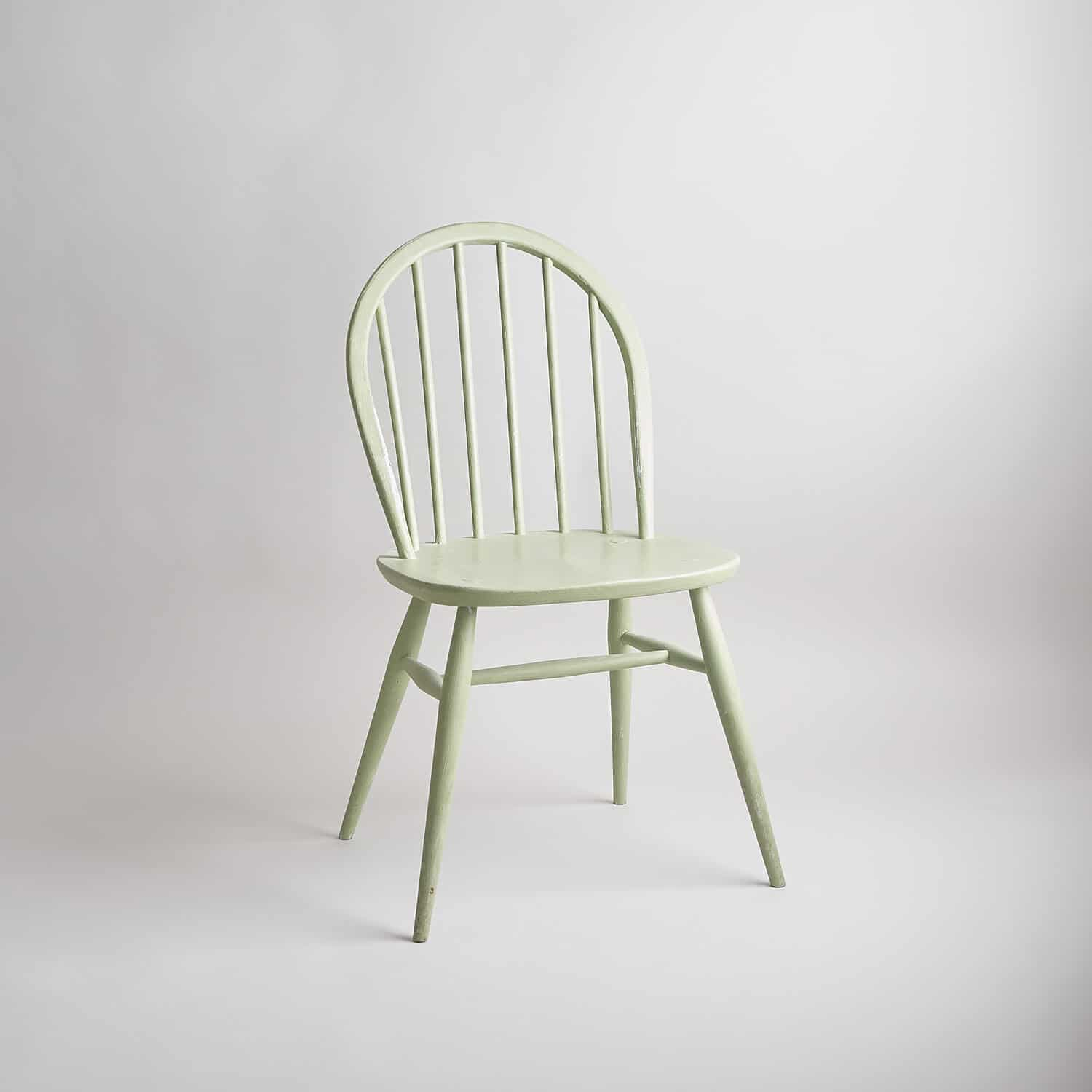 Ercol vintage painted chair part of the stock of furniture in the studio