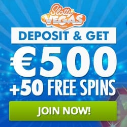 Slotty Vegas Casino 50 free spins + 100% welcome bonus