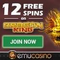 EMU Casino 12 free spins and $500 free bonus