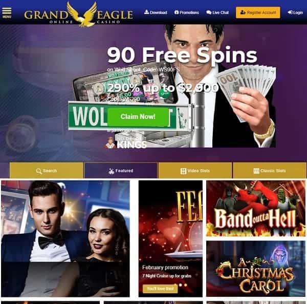 Grand Eagle Casino Usa Accepted Free Spins No Deposit Bonus
