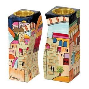 Yair Emanuel Candelabros de Shabat ajustados: Jerusalém
